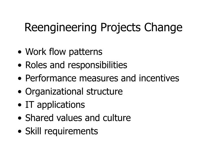 Reengineering Projects Change