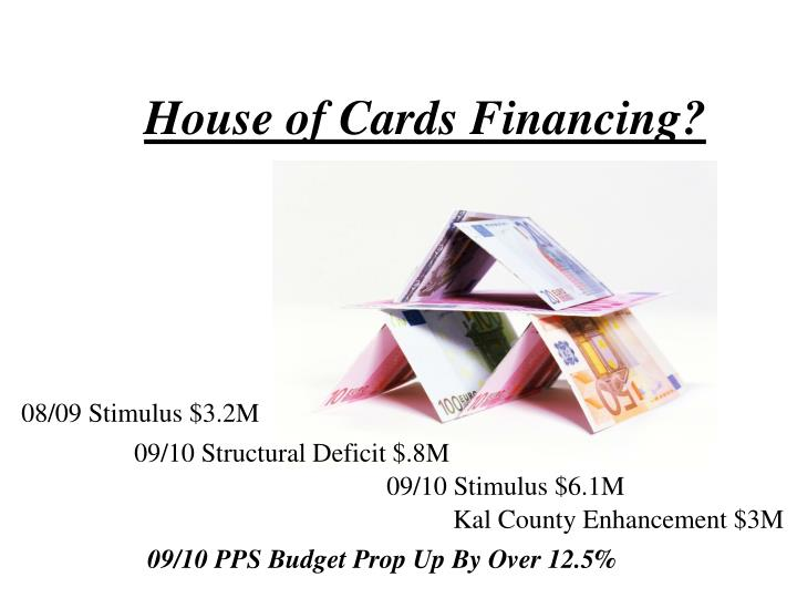 House of Cards Financing?