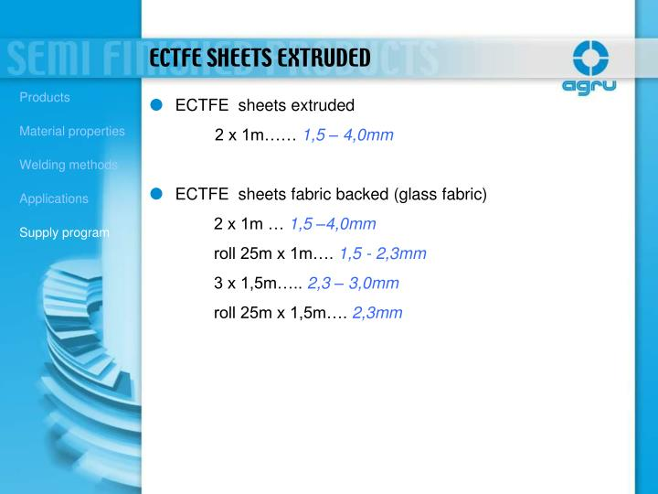 ECTFE  sheets extruded
