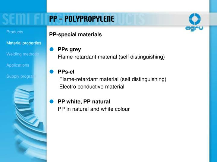 PP-special materials