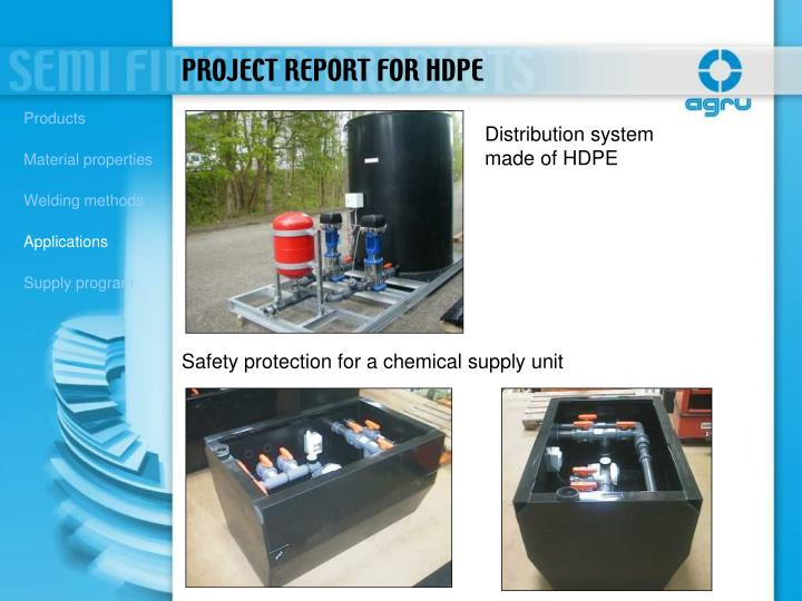 PROJECT REPORT FOR HDPE