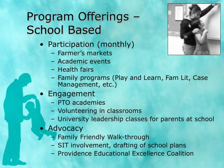Program Offerings –