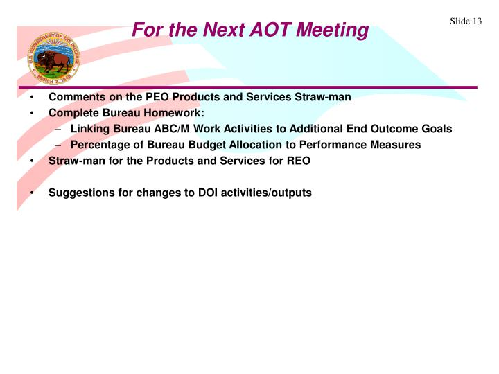 Comments on the PEO Products and Services Straw-man