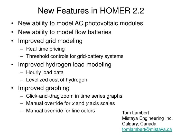New features in homer 2 2
