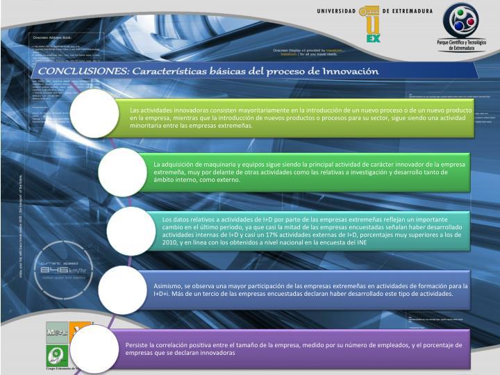 CONCLUSIONES: Características básicas del proceso de Innovación