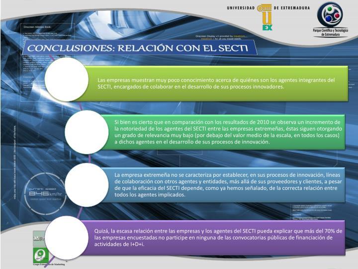 CONCLUSIONES: RELACIÓN CON EL SECTI