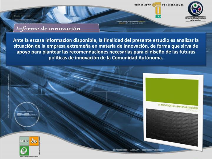 Informe de innovación