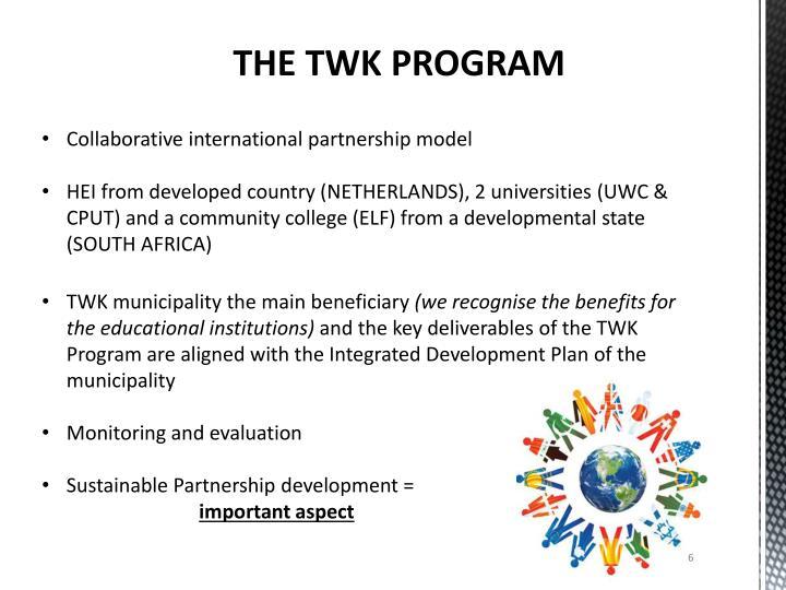 THE TWK PROGRAM