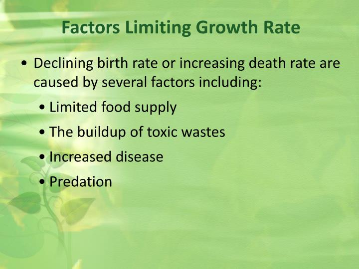 Factors Limiting Growth Rate