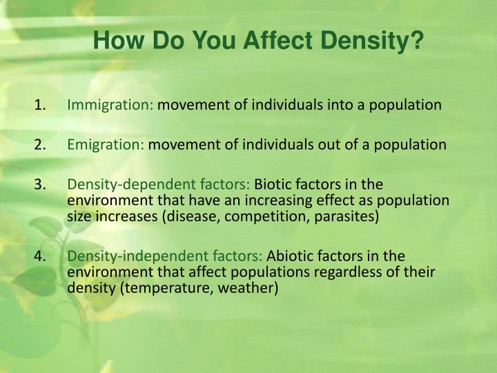 How Do You Affect Density?