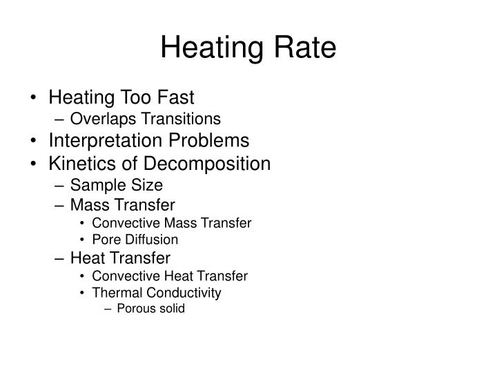Heating Rate