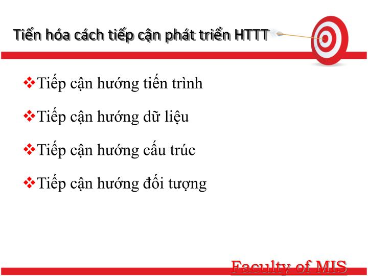 Tiến hóa cách tiếp cận phát triển HTTT