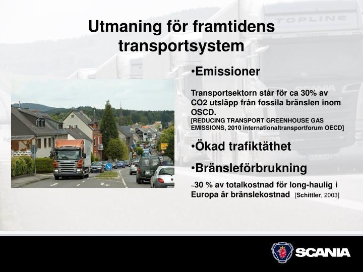 Utmaning för framtidens transportsystem
