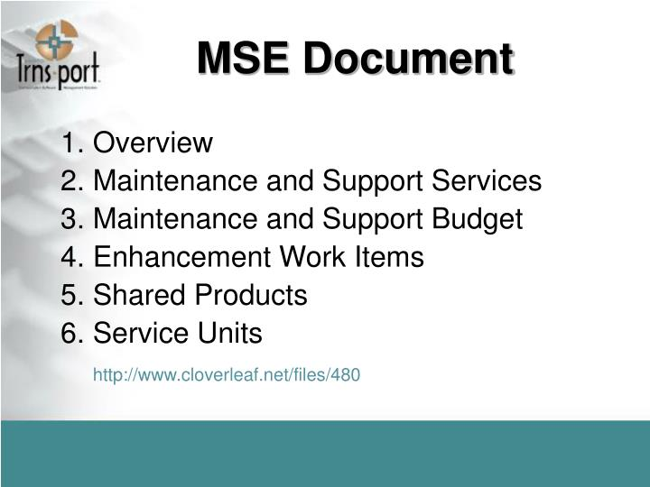 MSE Document