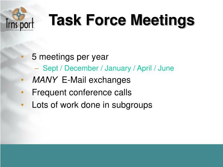 Task Force Meetings