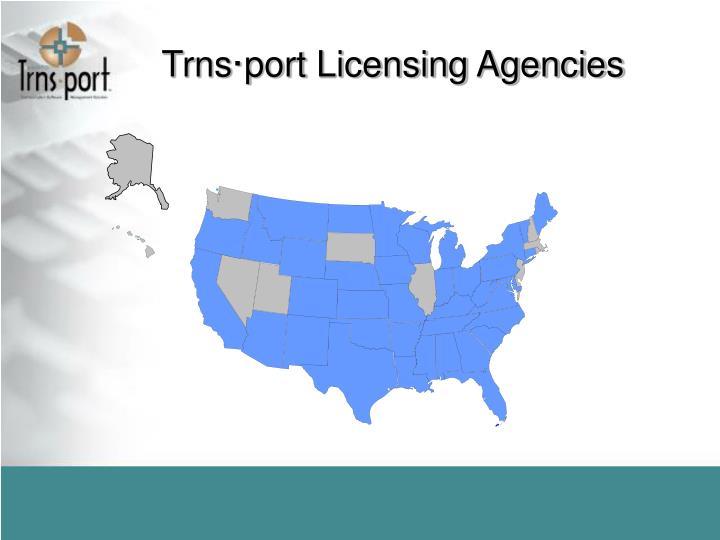 Trns·port Licensing Agencies