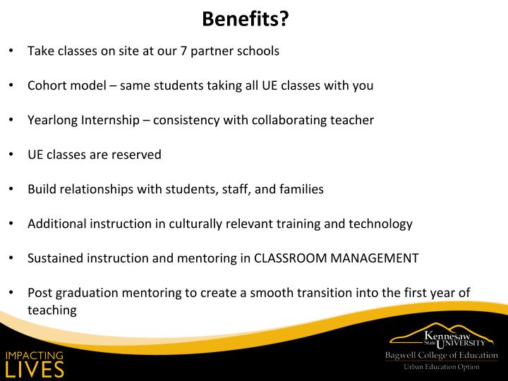 Take classes on site at our 7 partner schools
