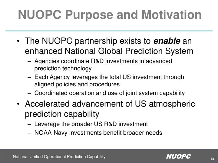 NUOPC Purpose and Motivation