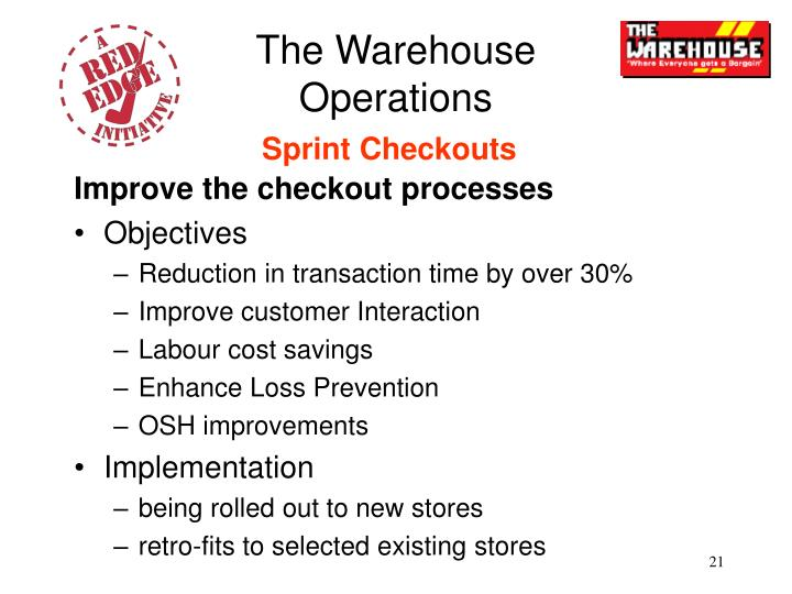 Improve the checkout processes