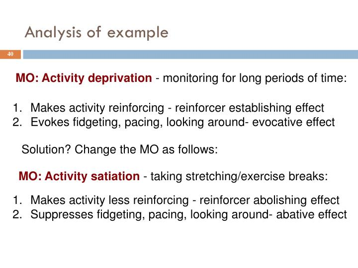 Analysis of example