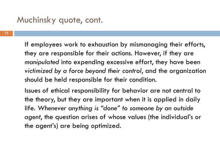 Muchinsky quote, cont.