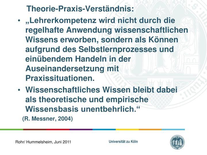 Theorie-Praxis-Verständnis: