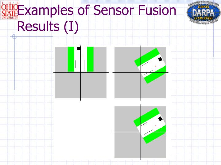 Examples of Sensor Fusion Results (I)