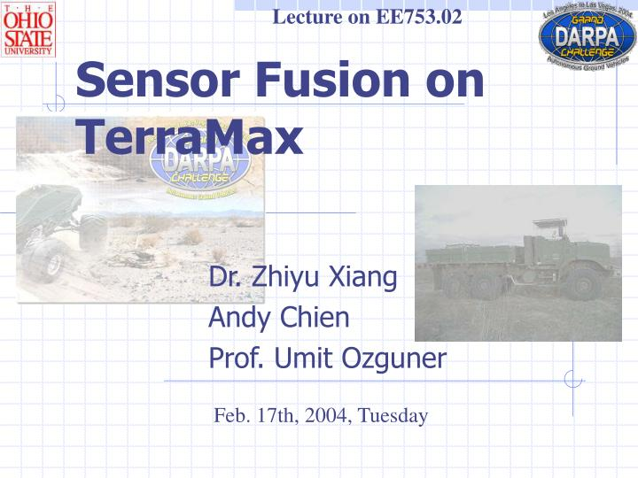 Lecture on EE753.02