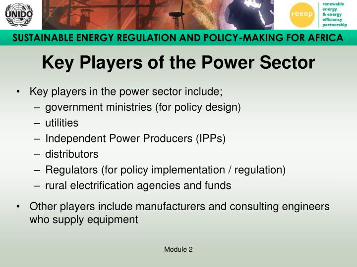 Key Players of the Power Sector