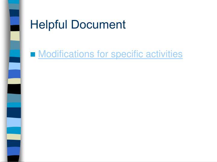 Helpful Document