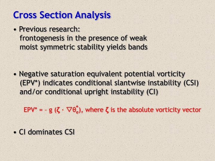 Cross Section Analysis