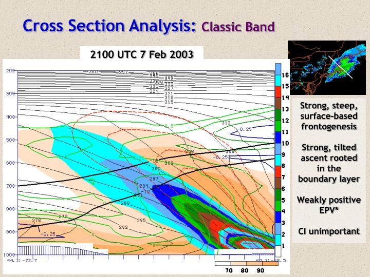 Cross Section Analysis: