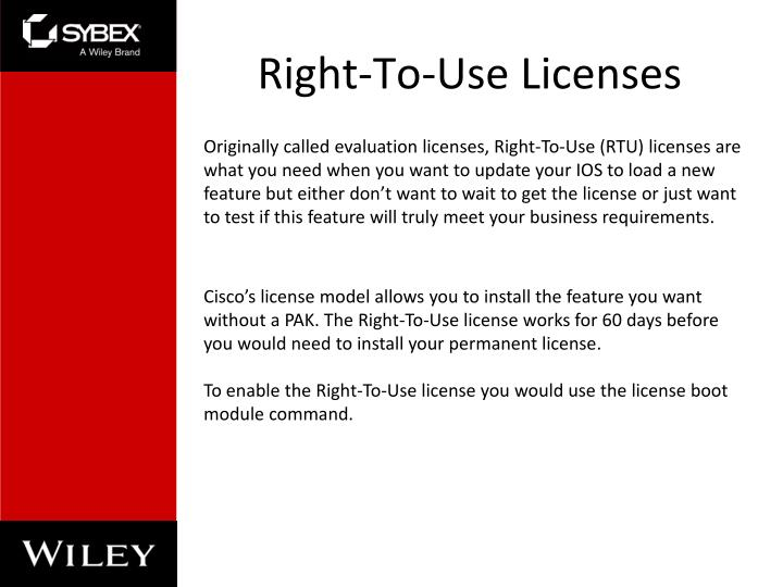 Right-To-Use Licenses