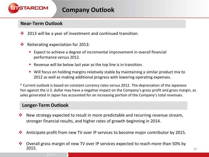 Company Outlook