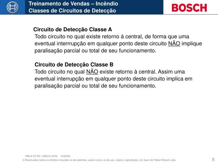 Circuito de Detecção Classe A