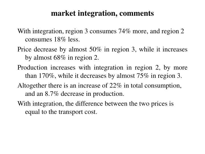 market integration, comments