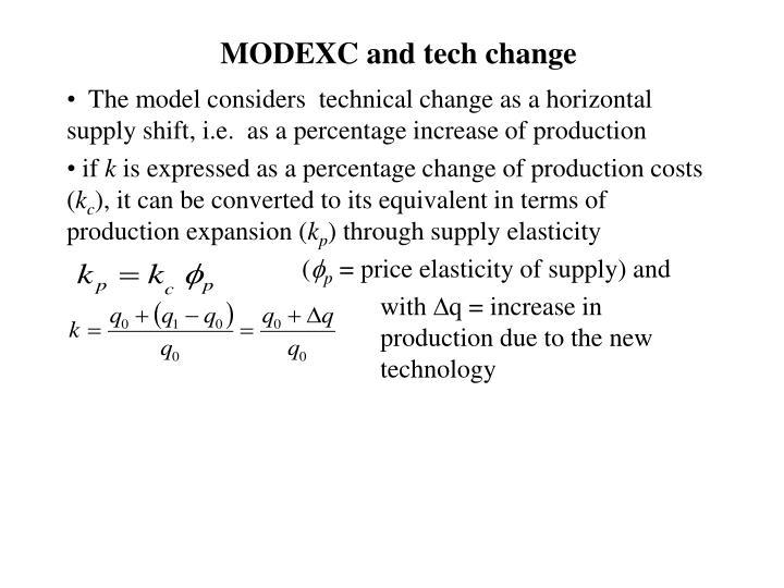 MODEXC and tech change
