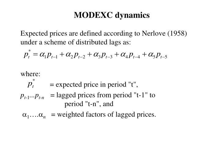 MODEXC dynamics