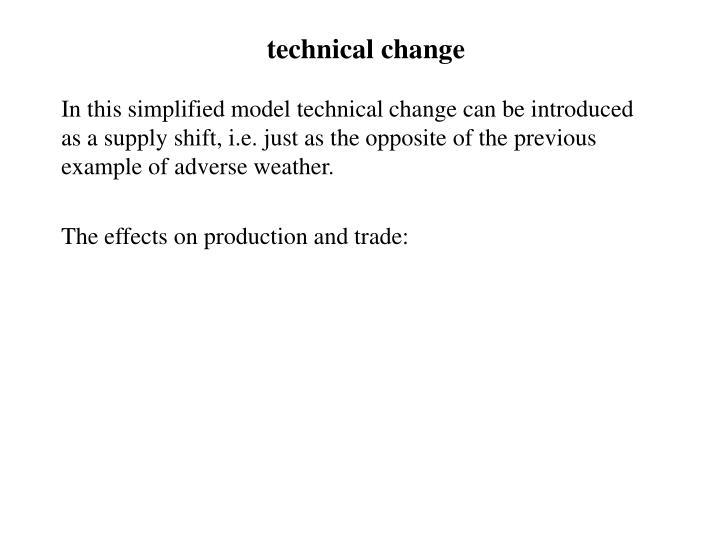 technical change