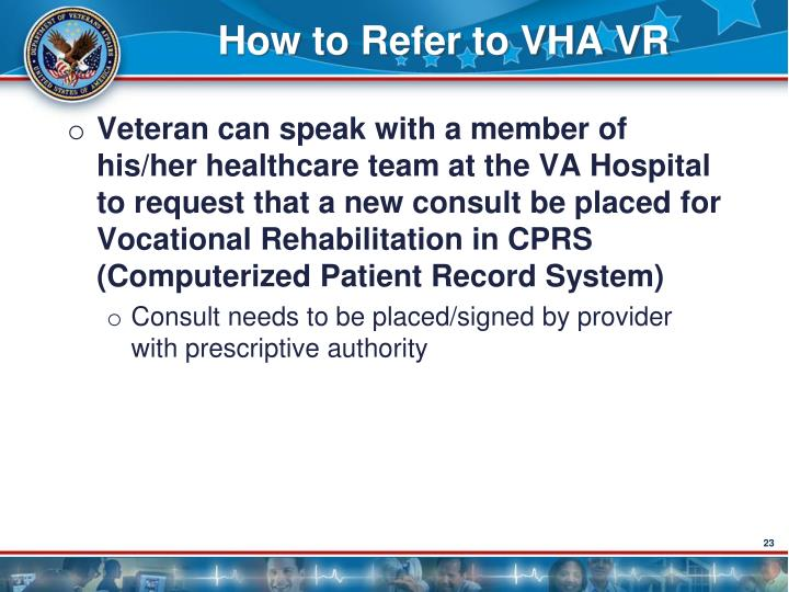How to Refer to VHA VR