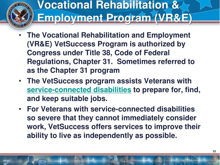 Vocational Rehabilitation & Employment Program (VR&E)