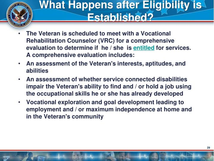 What Happens after Eligibility is Established?
