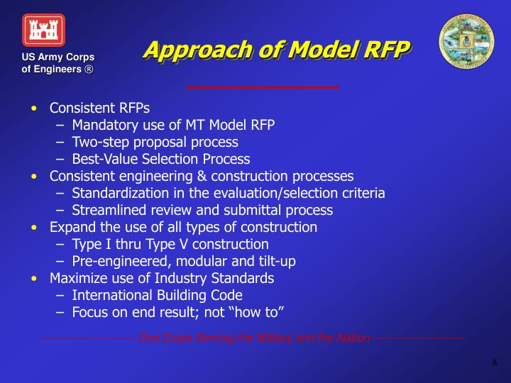 Approach of Model RFP