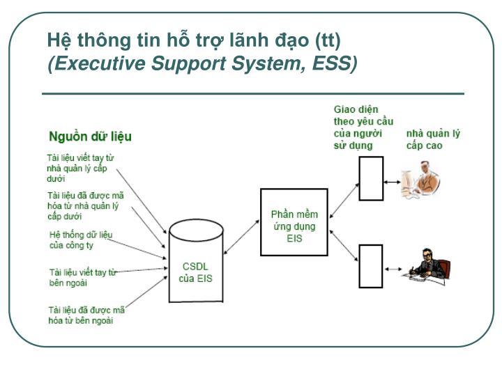 Hệ thông tin hỗ trợ lãnh đạo (tt)