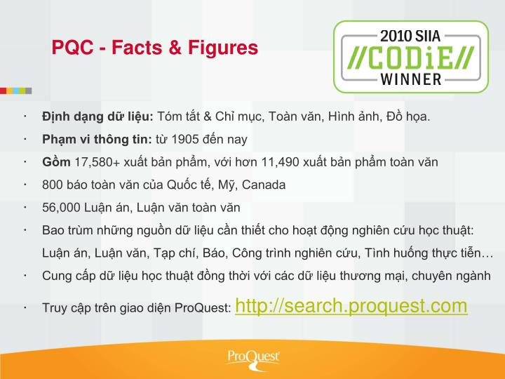 Pqc facts figures