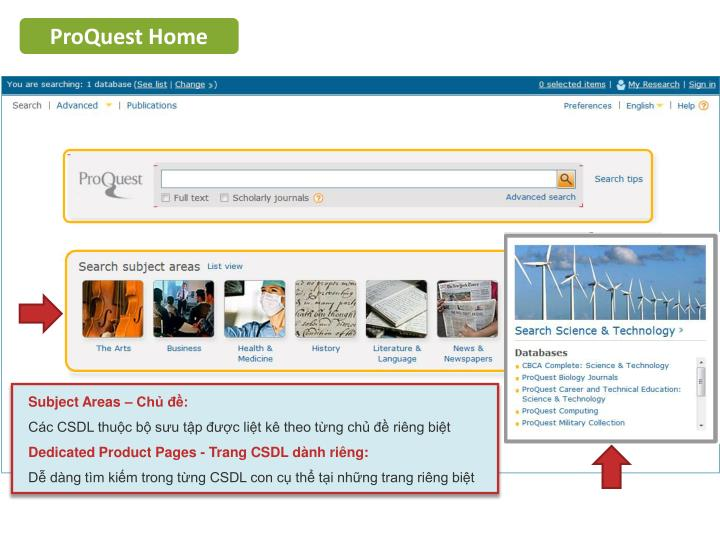 ProQuest Home