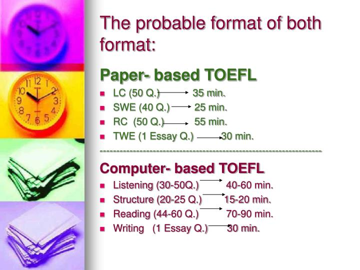The probable format of both format:
