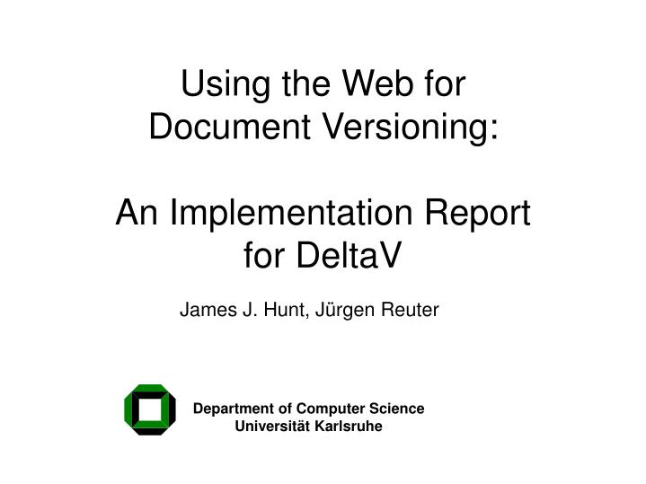 Using the Web for