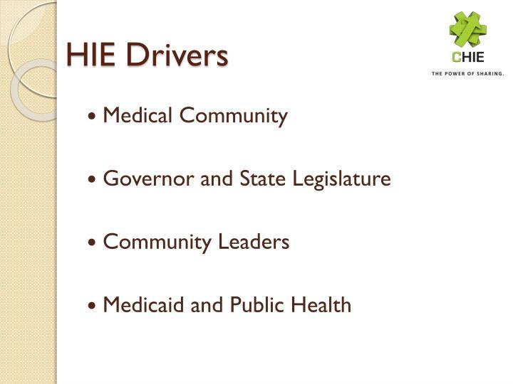 HIE Drivers