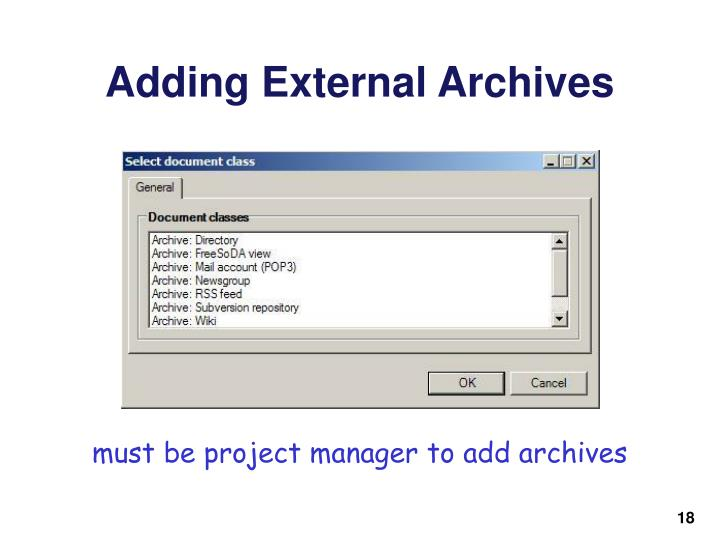 Adding External Archives